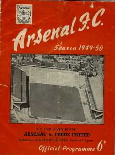 Arsenal v Leeds United on 04 March 1950 - Football Programme